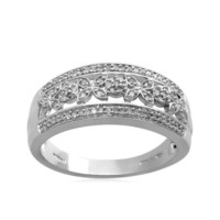 Sterling Silver Diamond Ring (1/5 cttw, I-J Color, I3 Clarity)