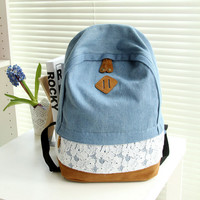 Cute Lace Canvas Backpack