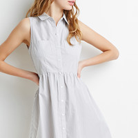 Striped Button-Down Dress - Dresses - 2000052312 - Forever 21 EU
