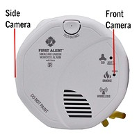 Dual Camera View Wifi Carbon Monoxide Smoke Detector Spy Camera & DVR - Wireless Hidden Camera - 110V Hardwired