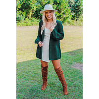 The Right Reason Cardigan: Forest Green