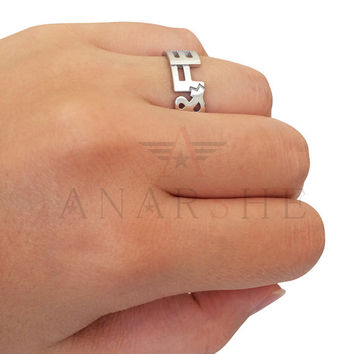 Name ring, silver name ring, name jewelry, two names ring, personalized name ring, wedding ring, band ring, engagement ring, promise ring