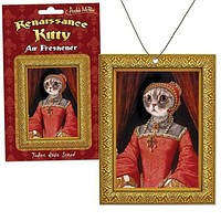Renaissance Kitty Air Freshener in Tudor Rose Scent