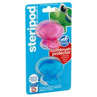 Steripod Clip-On Toothbrush Sanitizer (2 Pack Green And Blue) - Walmart.com