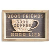 Primitives by Kathy 'Good Friends, Good Coffee, Good Life' Wall Art | Nordstrom