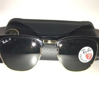 Ray-Ban RB3016 Classic Clubmaster Sunglasses ** AUTHENTIC **