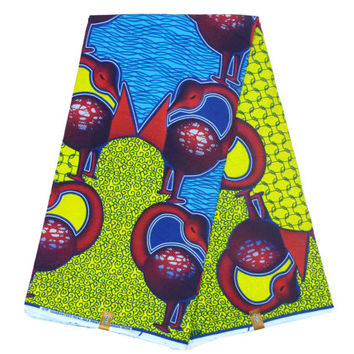 Ankara Fabric by the Yard - Ghanaian Dutch Wax - African Designer Fabric - Cotton Ankara Print - GTP NuStyle - Sankofa