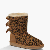 Ugg Bailey Bow Rosette Girls Boots Chestnut  In Sizes