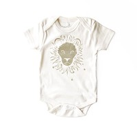 Leo Organic Baby Bodysuit in Natural [July 23 - August 22]