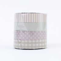Classiky Washi Tape Set (Q) Greys