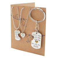Joie Father Mother Daughter Necklace Set, Gifts for Parents