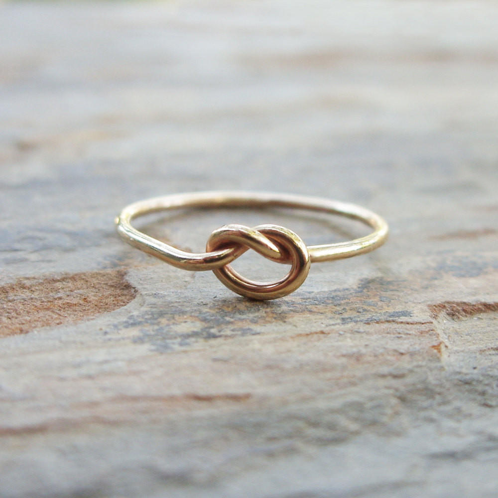 Image of Solid 14k Gold Love Knot Promise Ring