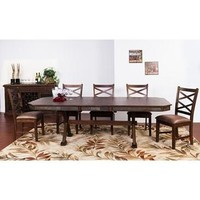 Sunny Designs Savannah Collection Seven Piece Dining Set