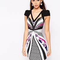 Ginger Fizz Art Deco Dress With Strap Detail
