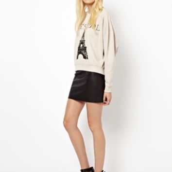 Just Female Tres Cool Sweatshirt at asos.com