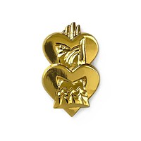 Golden Hearts Club Pin