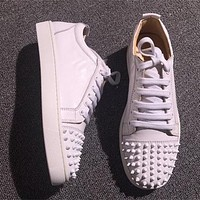 Cl Christian Louboutin Low Style #2045 Sneakers Fashion Shoes