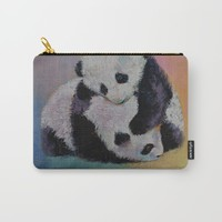 Baby Panda Rumble Carry-All Pouch by Michael Creese