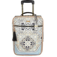 Blue floral print suitcase - make up bags / luggage - bags / purses - women