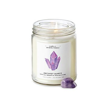 Amethyst Healing Candle