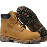 Timberland Rhubarb Boots 2017 Camouflage Waterproof Martin Boots 36-45