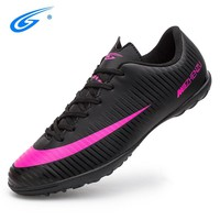ZHENZU Size 35-44 Men Boy Kids Soccer Cleats Turf Football Soccer Shoes TF Hard Court Sneakers Trainers Football Boots