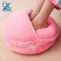 Creative Macaron Plush Foot Warmer Winter Feet Warmer Slippers Sofa/Chair/Seat/Back Cu
