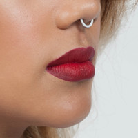 White Faux Septum Nose Ring