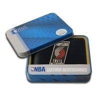 Portland Trail Blazers NBA Embroidered Leather Billfold Wallet NEW in Gift Tin