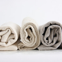 "natural towel 20x30"", handmade from natural linen, hemp or wild-silk"