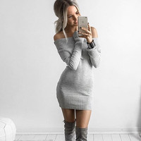 Kimberly Off-the-Shoulder Sweater Dress