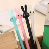 1 pcs New Cute rabbit gel pen writing pens stationery caneta material escolar office school supplies papelaria