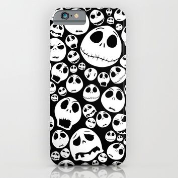 Halloween Jack Skellingtons emoticon face pattern iPhone & iPod Case by Greenlight8