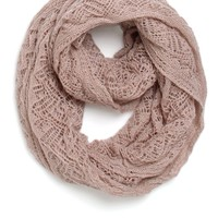 With Love From CA Open Knit Infinity Scarf - Womens Scarves - Pink - One