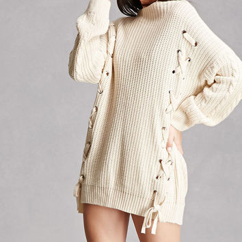 Lace-Up Side Grommet Sweater