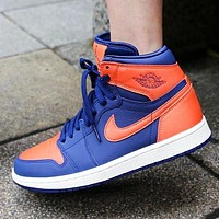 Bunchsun WMNS AIR JORDAN 1 AJ1 Fashion new hook high top couple shoes