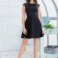 COLORS 1547 Cap Sleeve Homecoming Cocktail Dress
