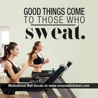 Good Things Come to Those who Sweat - Moon Wall Stickers
