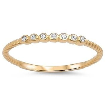 A 2mm 14K Yellow Gold Wedding Band