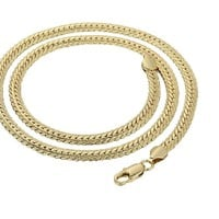 6MM Women Mens Gold Snake Chain Necklace, 24inch/61 cm