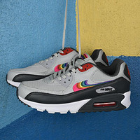 "Nike Air Max 90 QS ""BETRUE"" Light grey/black/colorful"