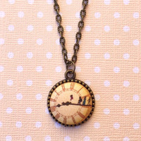 """Handmade """"Second Star to the Right, and Straight on 'Til Morning"""" Peter Pan Big Ben  Inspired Necklace with Bronze Setting and 18"""" chain"""
