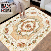 120x180CM European style House Rugs For Living Room Big Area Carpet Flower Bedroom Flufffy Rugs Door Mat Coffee Table Carpets