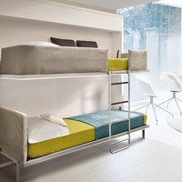 Pull-down bunk bed LOLLISOFT IN Lolli Collection by CLEI | design Giulio Manzoni