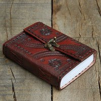 Indra Medium Embossed Leather Journal