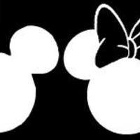 """Mickey and Minnie Mouse Heads Set/4 Car Window Decal Sticker White 7"""" Many Colors"""