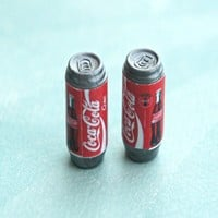 coke soda can earrings