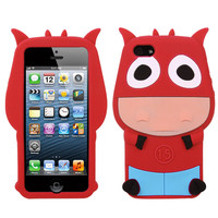 MYBAT Cute 3D Pastel Skin Silicone Case for iPhone 5/5S - Funny Cow
