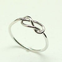 Love Infinity Knot Ring in Silver