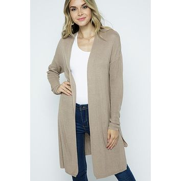 Push Your Luck Cardigan + Taupe